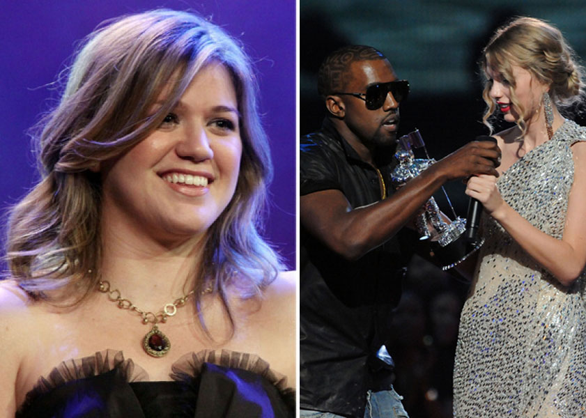 Kelly Clarkson Slams Kanye West After Interrupting Taylor Swift During Vmas Access Online