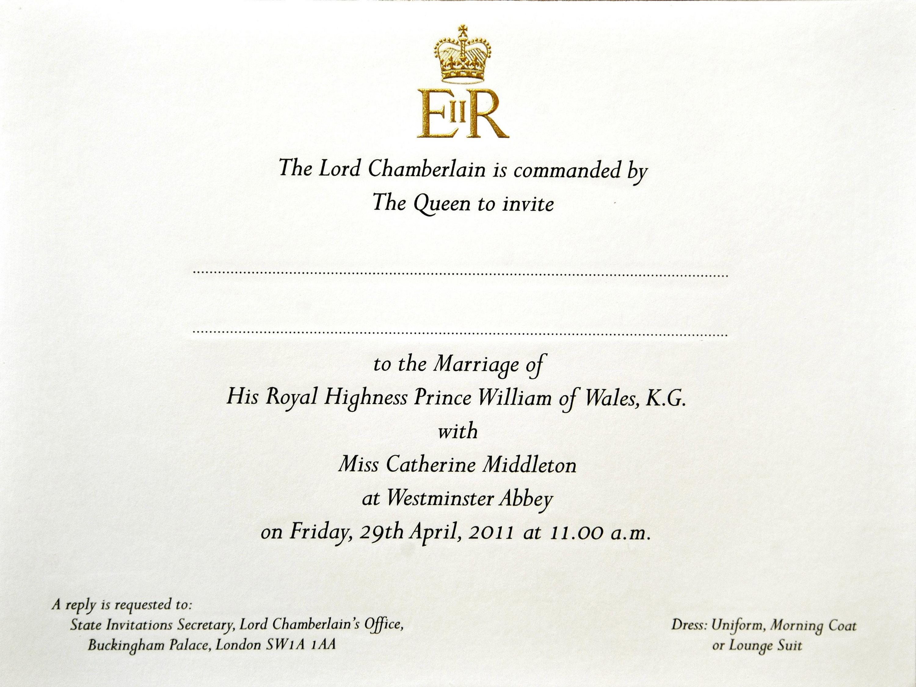 Check The Mailbox Royal Wedding Invites Posted
