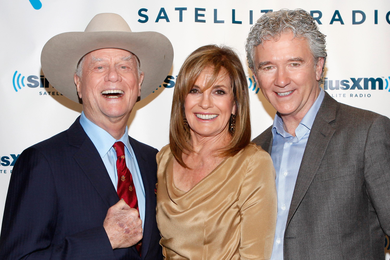 3a0992b0e6b78 Dallas  Linda Gray   Patrick Duffy Talk Paying Tribute To Larry Hagman    J.R. Ewing