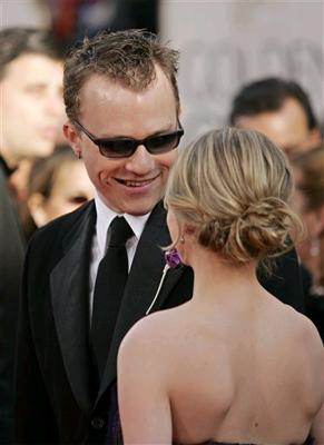 Heath Ledger and Michelle Williams at the Golden Globes in 2006
