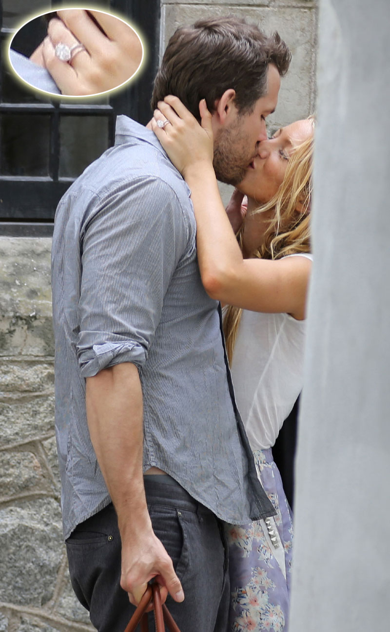 Blake Lively Wedding Ring.Photo Blake Lively Shows Off Wedding Ring During Kiss With Ryan