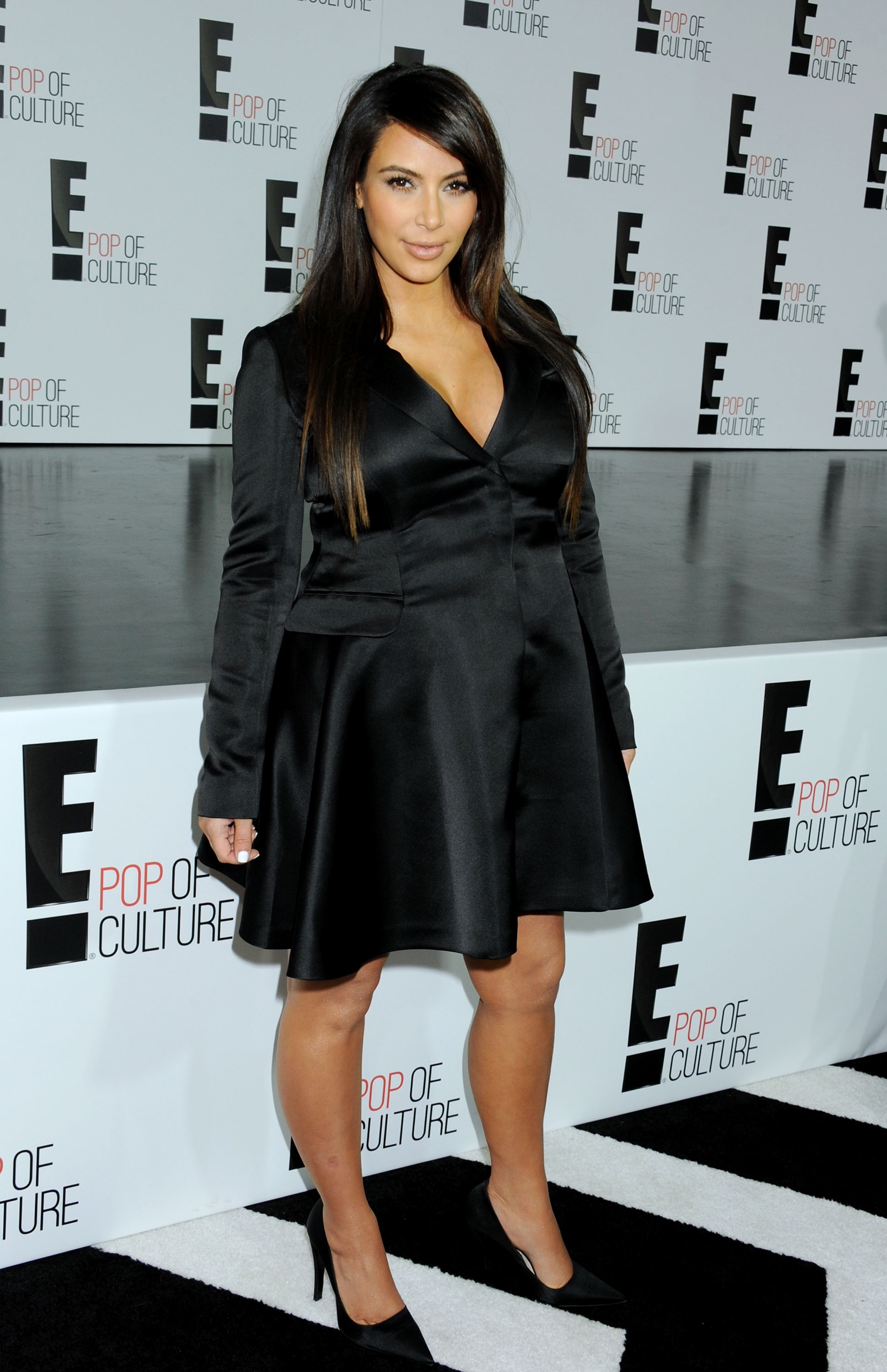 Kim Kardashian Sticks Tongue Out For Second Post-Baby Appearance