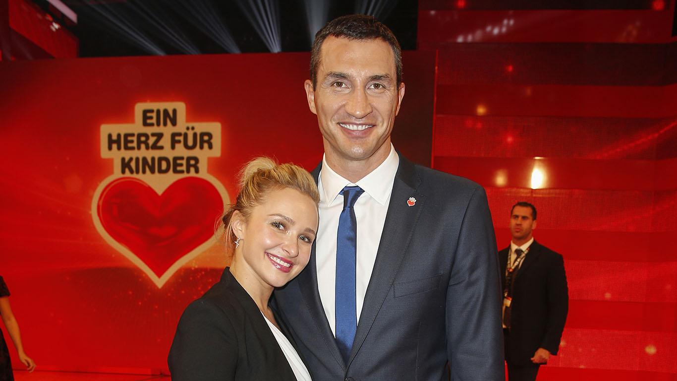 Hayden Panettier and Wladimir Klitschko