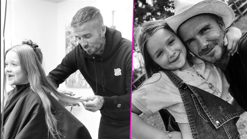 7f47327aa21f David Beckham Gets Adorably Emotional While Giving Daughter Harper A Haircut  | Access