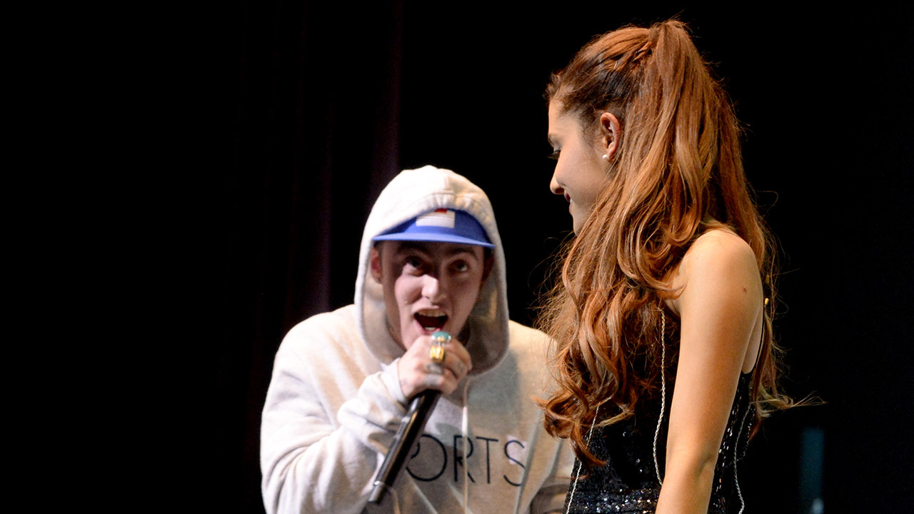 Mac Miller and Ariana Grande perform