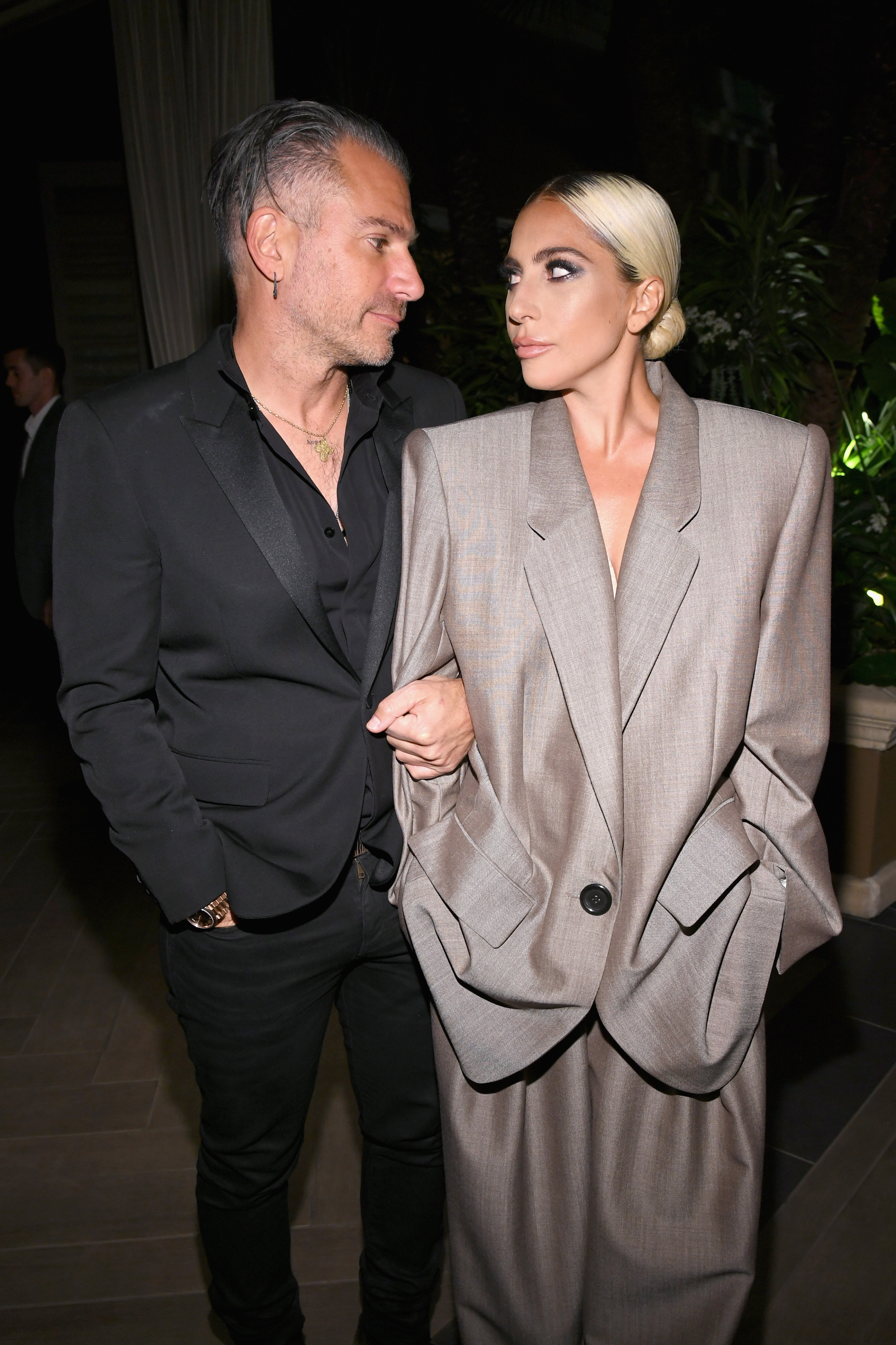 Christian Carino and Lady Gaga attend ELLE's 25th Annual Women In Hollywood Celebration