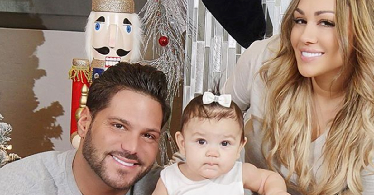Ronnie Ortiz-Magro with his daughter and Jen Harley