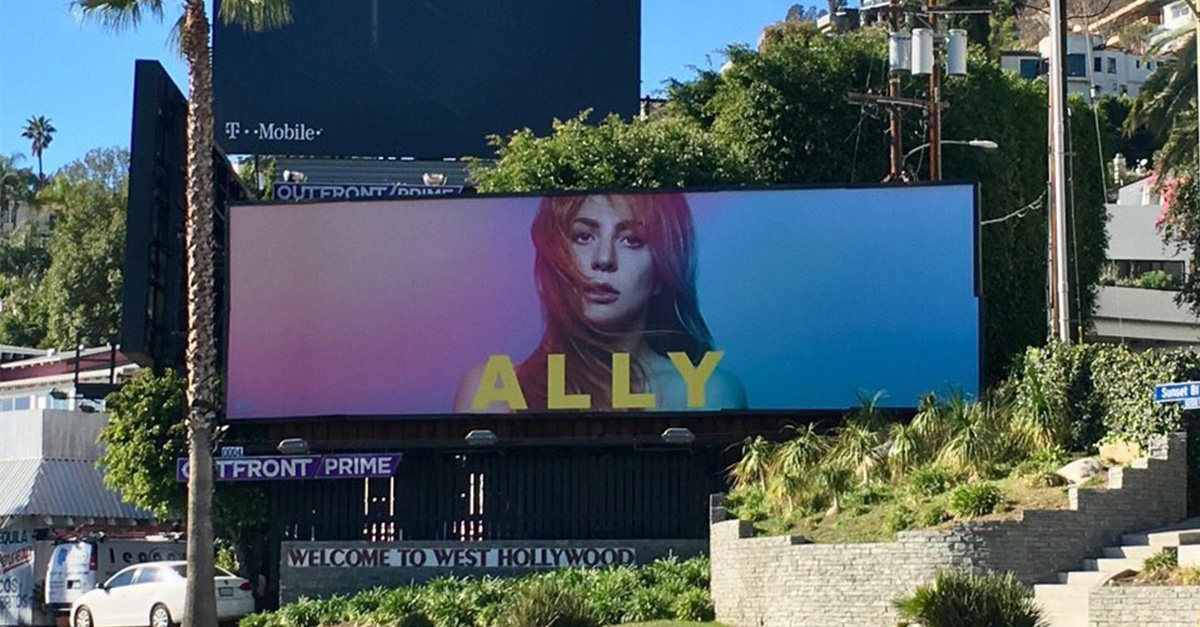 A Star Is Born Ally Maine Billboard Goes Up In The Same