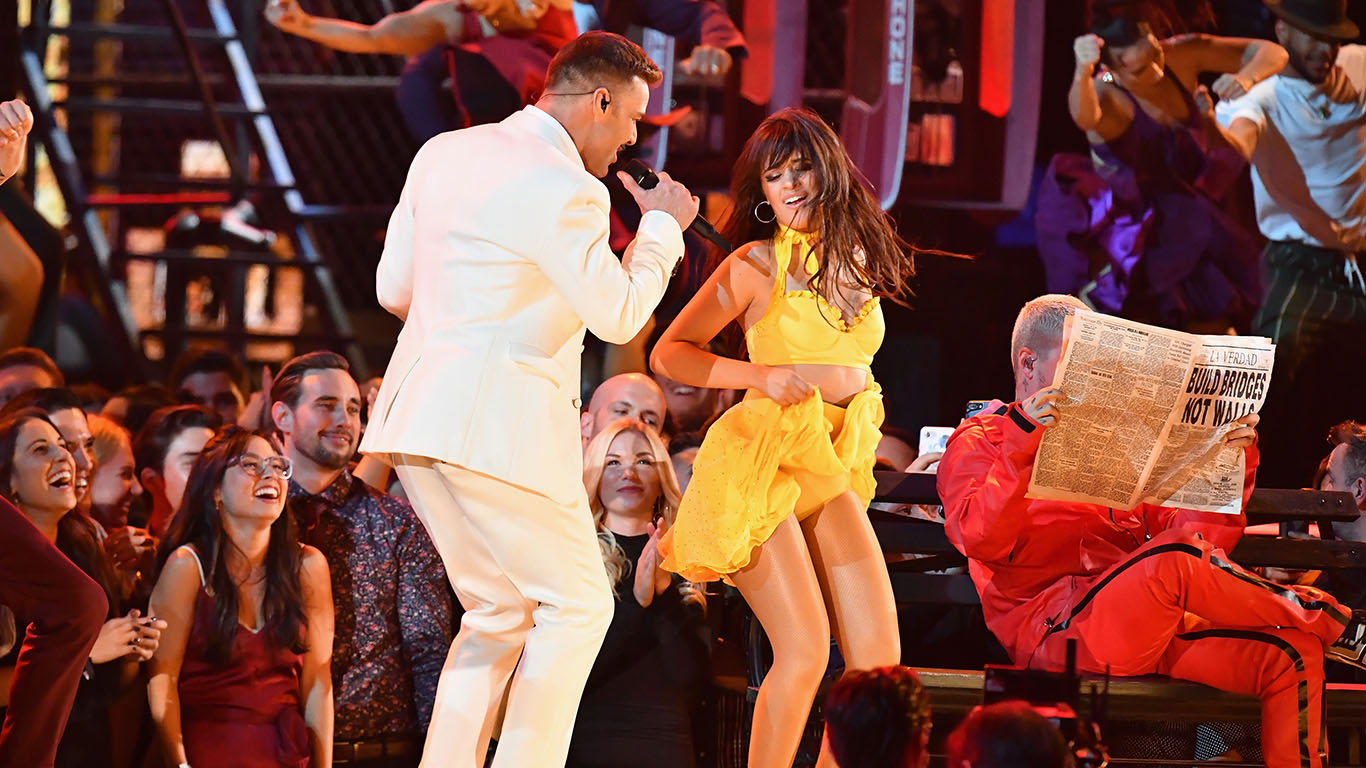 Ricky Martin and Camila Cabello perform
