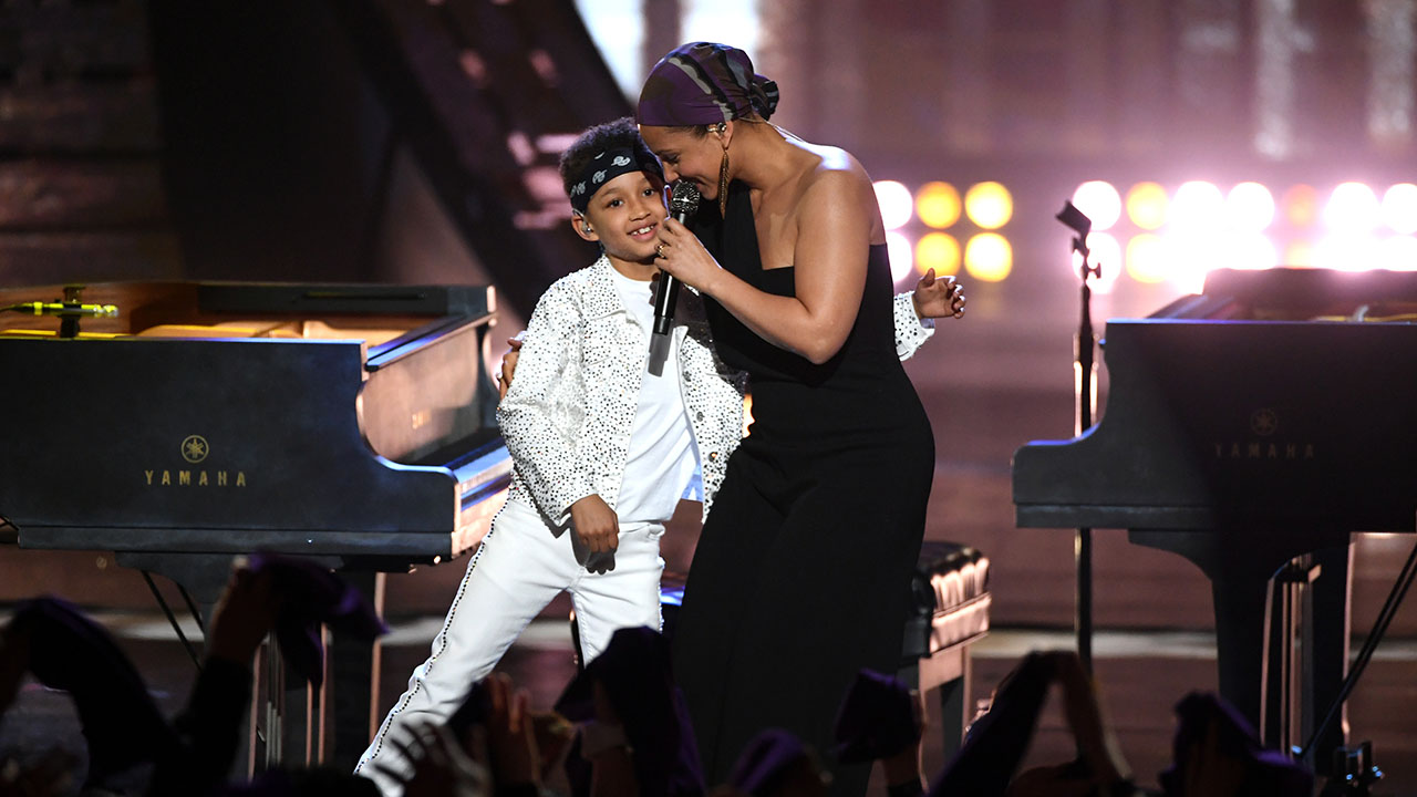 Alicia Keys' Son Performed With Her At The iHeartRadio