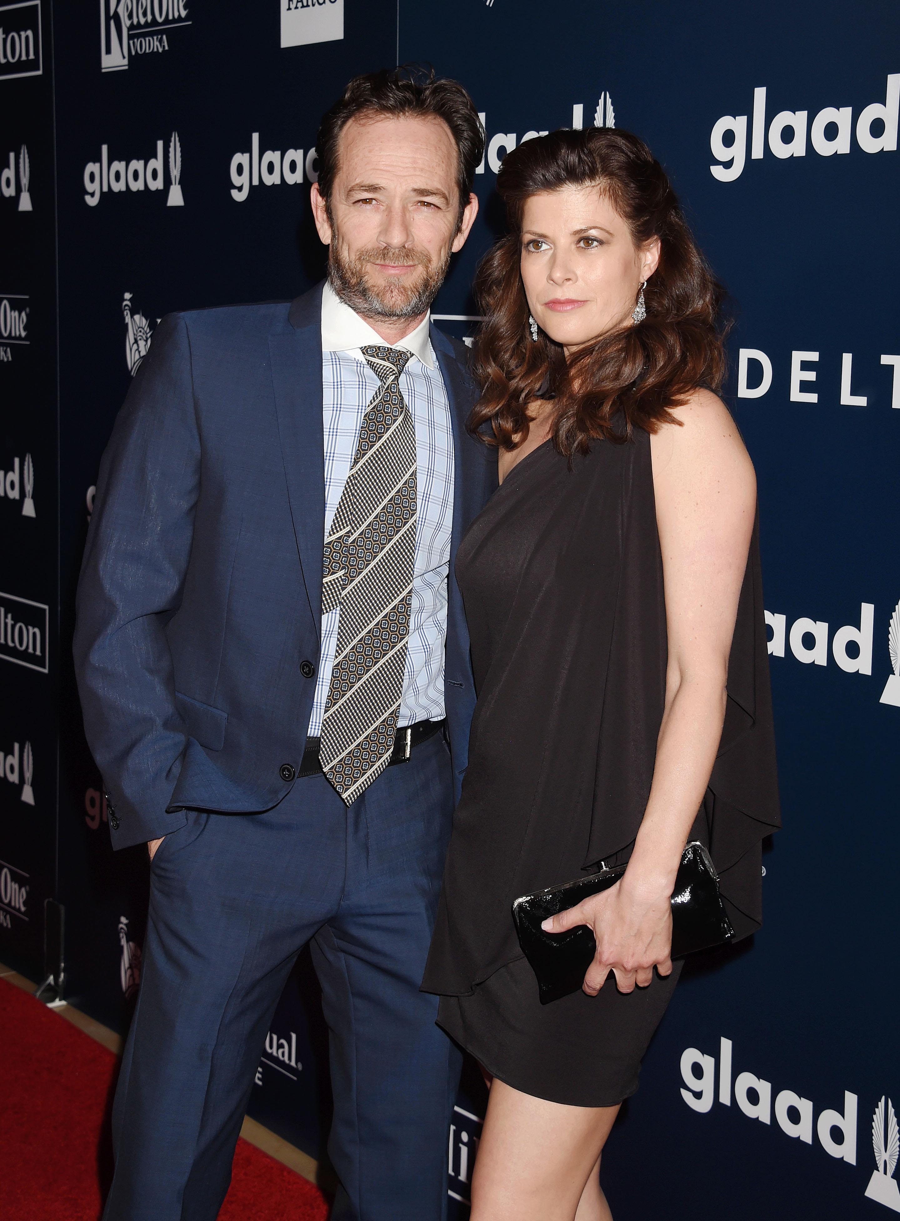Actor Luke Perry and guest