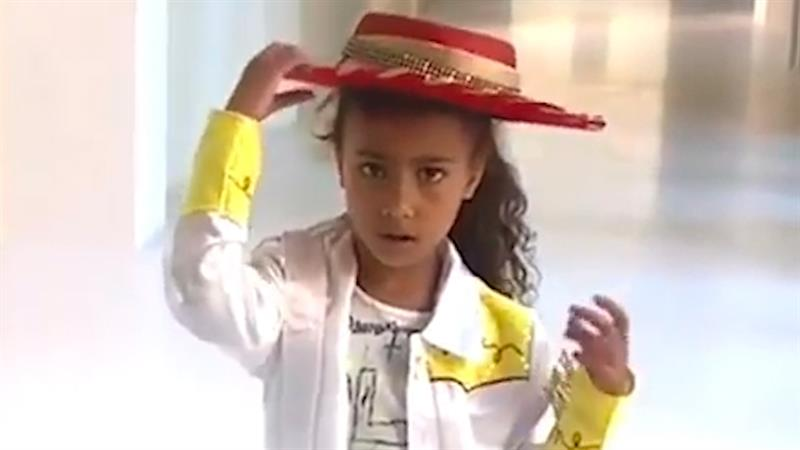 North West Shows Off Her Cowgirl Swag In Homemade 'Old Town Road' Music  Video: See Her Dance Moves! | Access