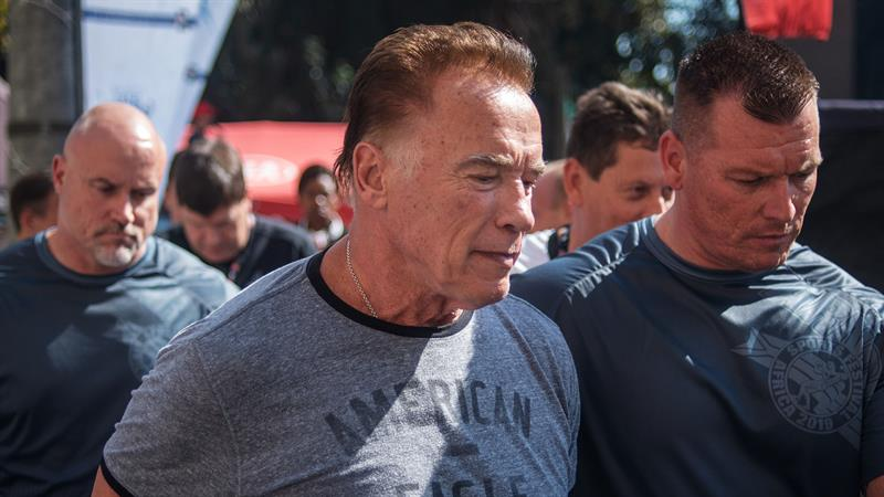 Arnold Schwarzenegger Is Dropkicked At South Africa Event