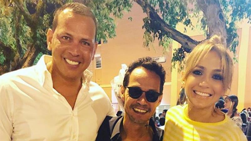 Alex Rodriguez Sits With Jennifer Lopez Amp Marc Anthony At