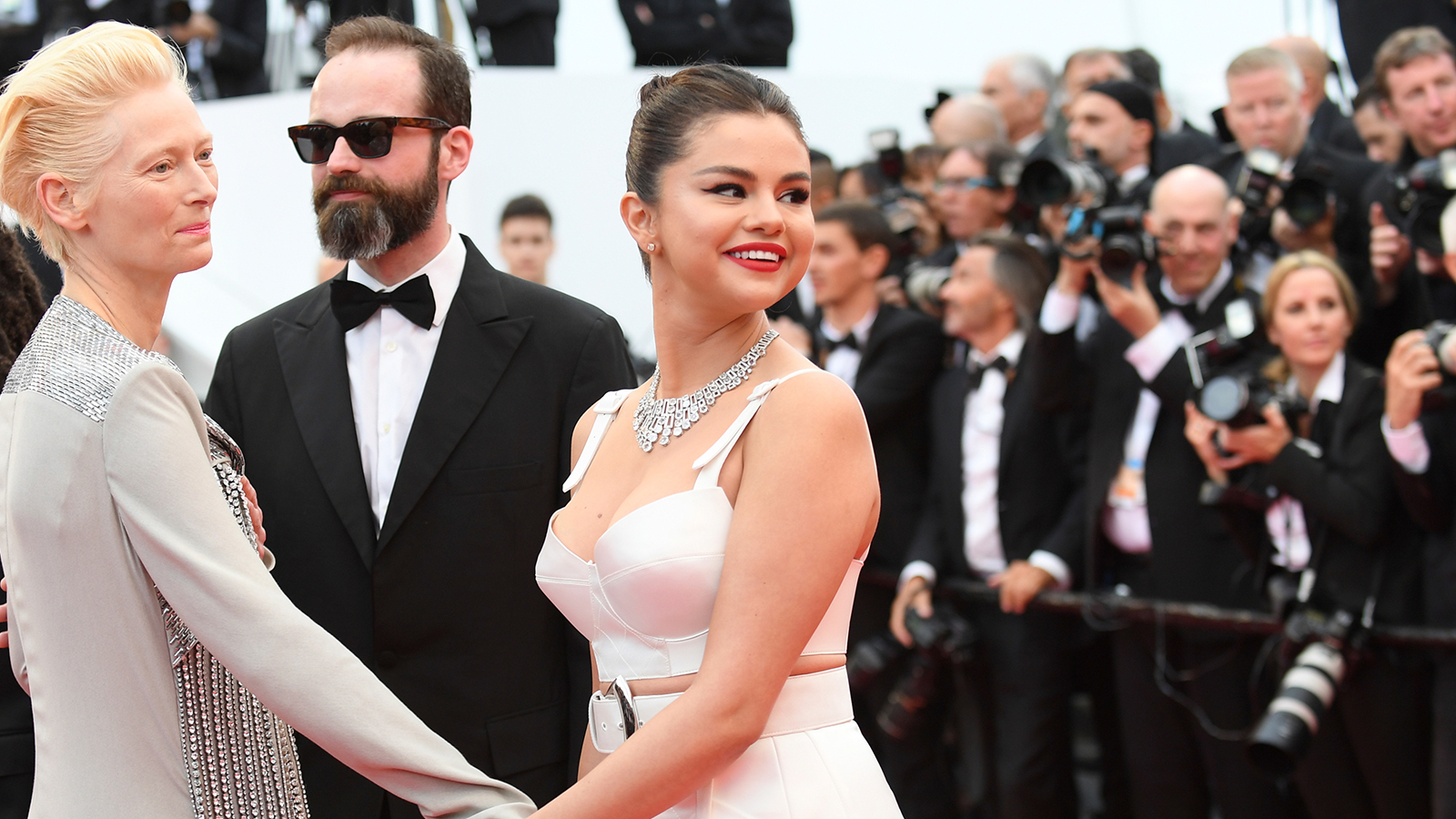 Selena Gomez Makes A Glamorous Splash At Her First Ever