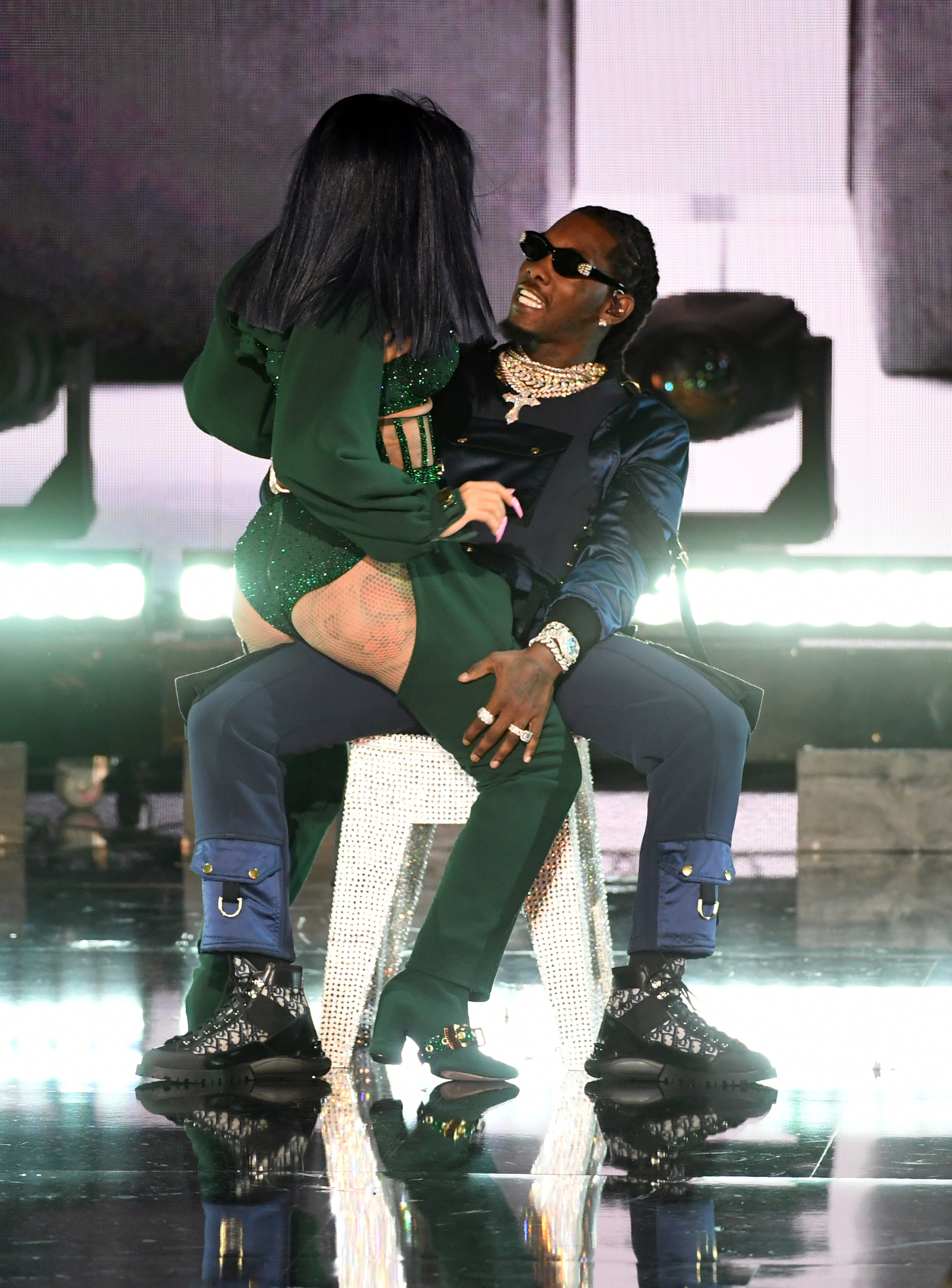 Cardi B Gives Offset A Lap Dance Onstage At Bet Awards