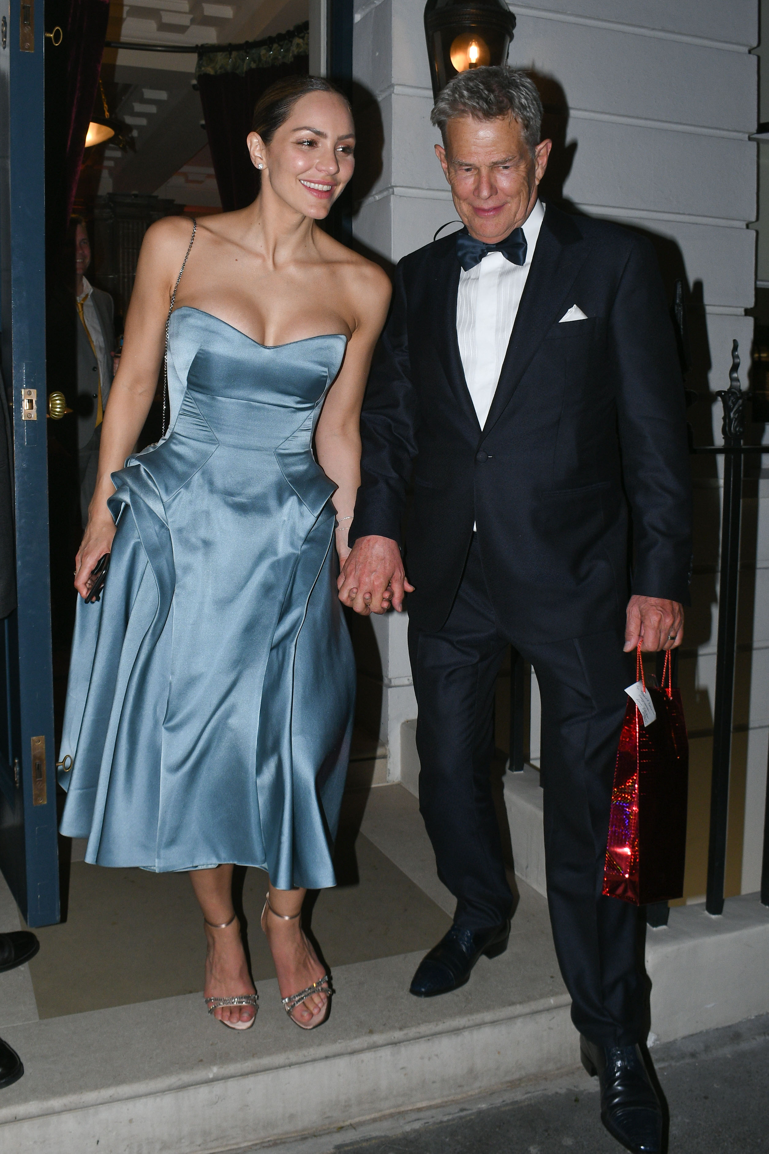 Katharine Mcphee Debuts Her Reception Dress Hand In Hand With Hubby David Foster Access