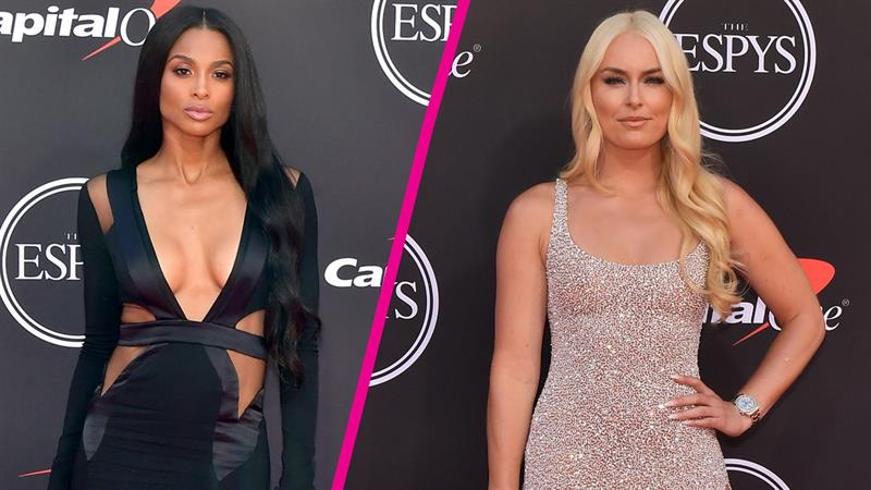ciara lindsey vonn and more sultry fashion from the espys red carpet access