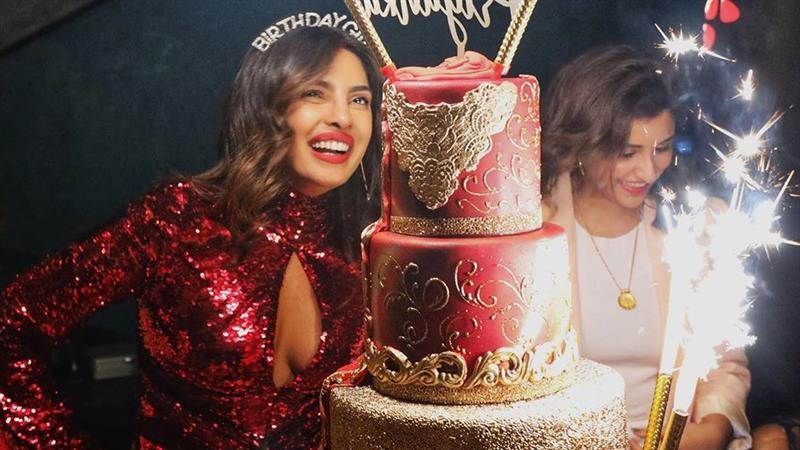 Priyanka Chopra Dazzles In Red For Epic Miami Birthday