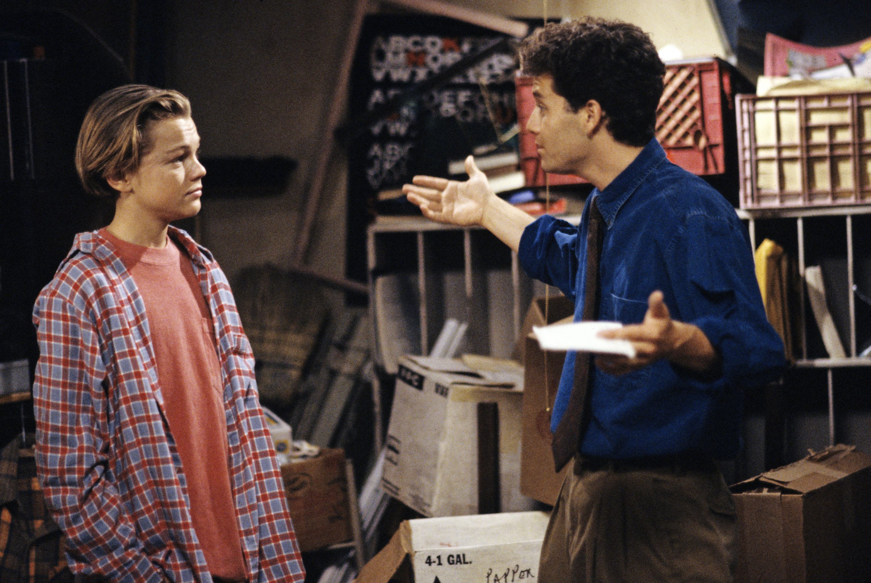 Leonardo DiCaprio and Kirk Cameron on 'Growing Pains'