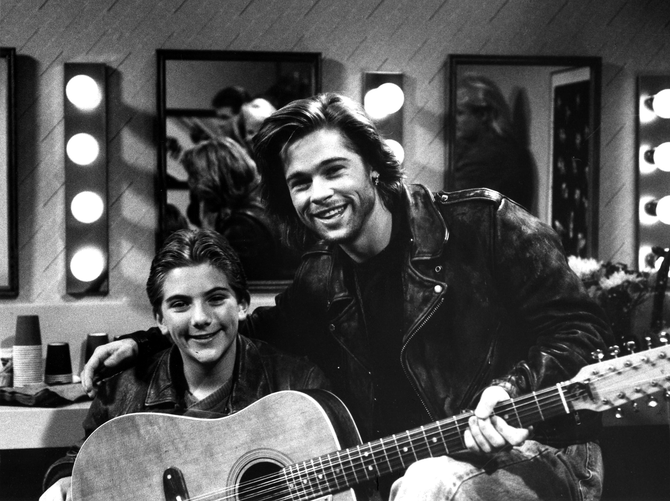 Jeremy Miller and Brad Pitt on 'Growing Pains'