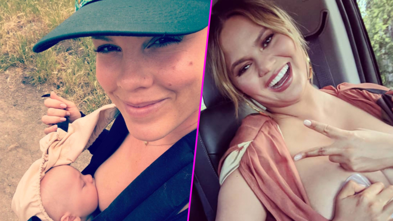 Pink, Chrissy Teigen and More Celebrity Moms Who Got Honest About Breastfeeding