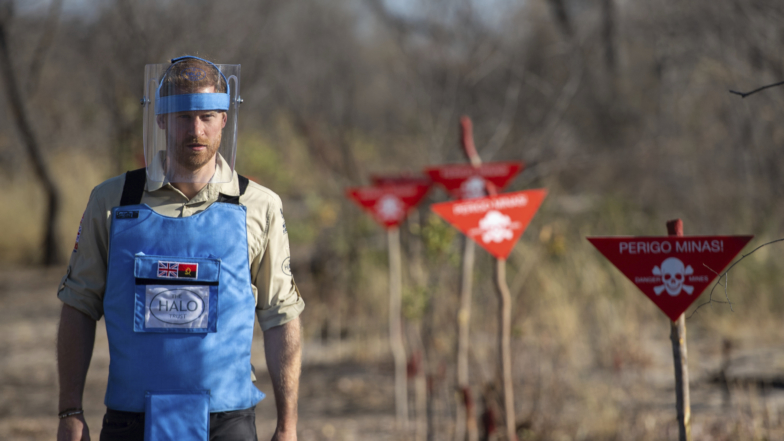 Prince Harry Walks In Princess Diana's Footsteps In Angola Landmine Fields
