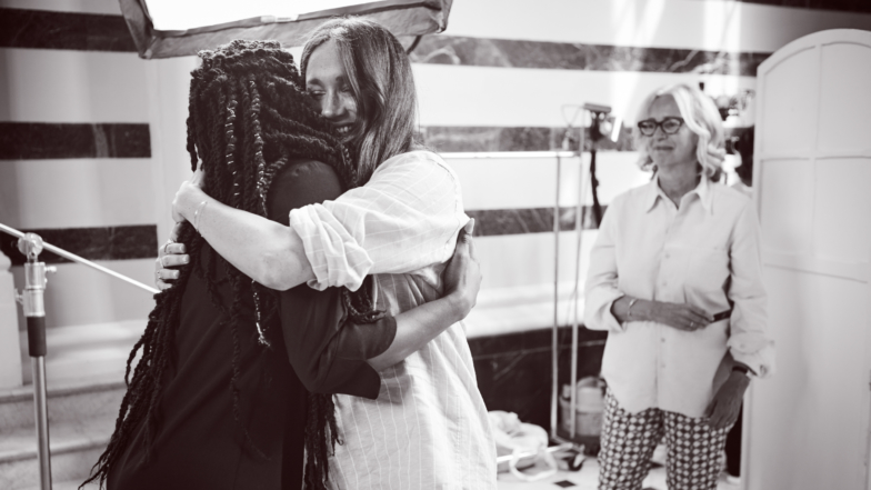 Meghan Markle Looks Overjoyed Working Behind-The-Scenes At Charity Collection Photo Shoot