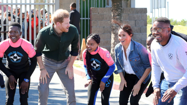 Meghan Markle And Prince Harry Bring All The Smiles For Beach Visit On Royal Tour
