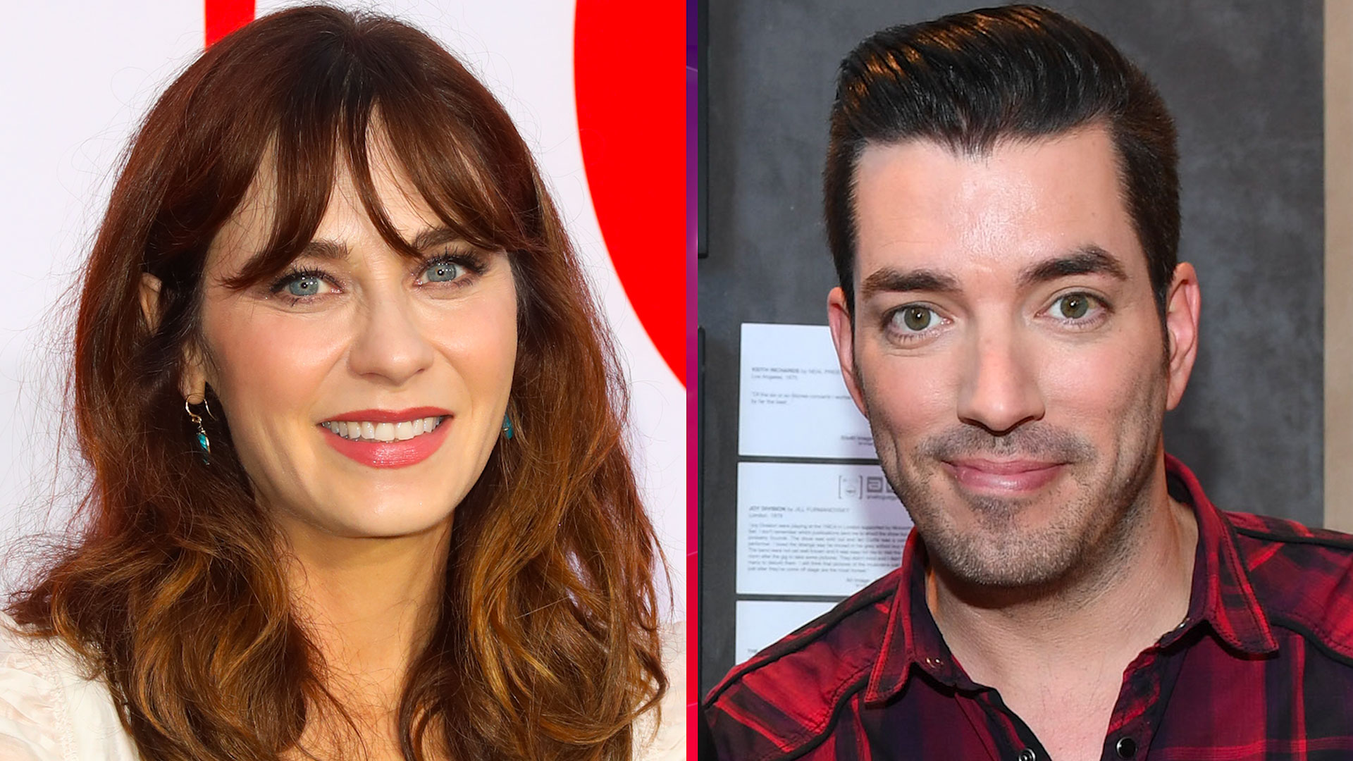 Zooey Deschanel Holds Hands With 'Property Brothers' Star ...