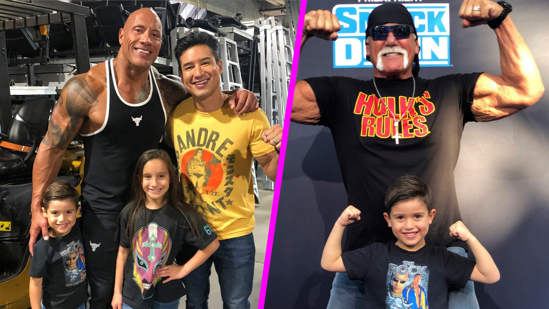 Mario Lopez And Kids Have Epic Family Night Out With The Rock