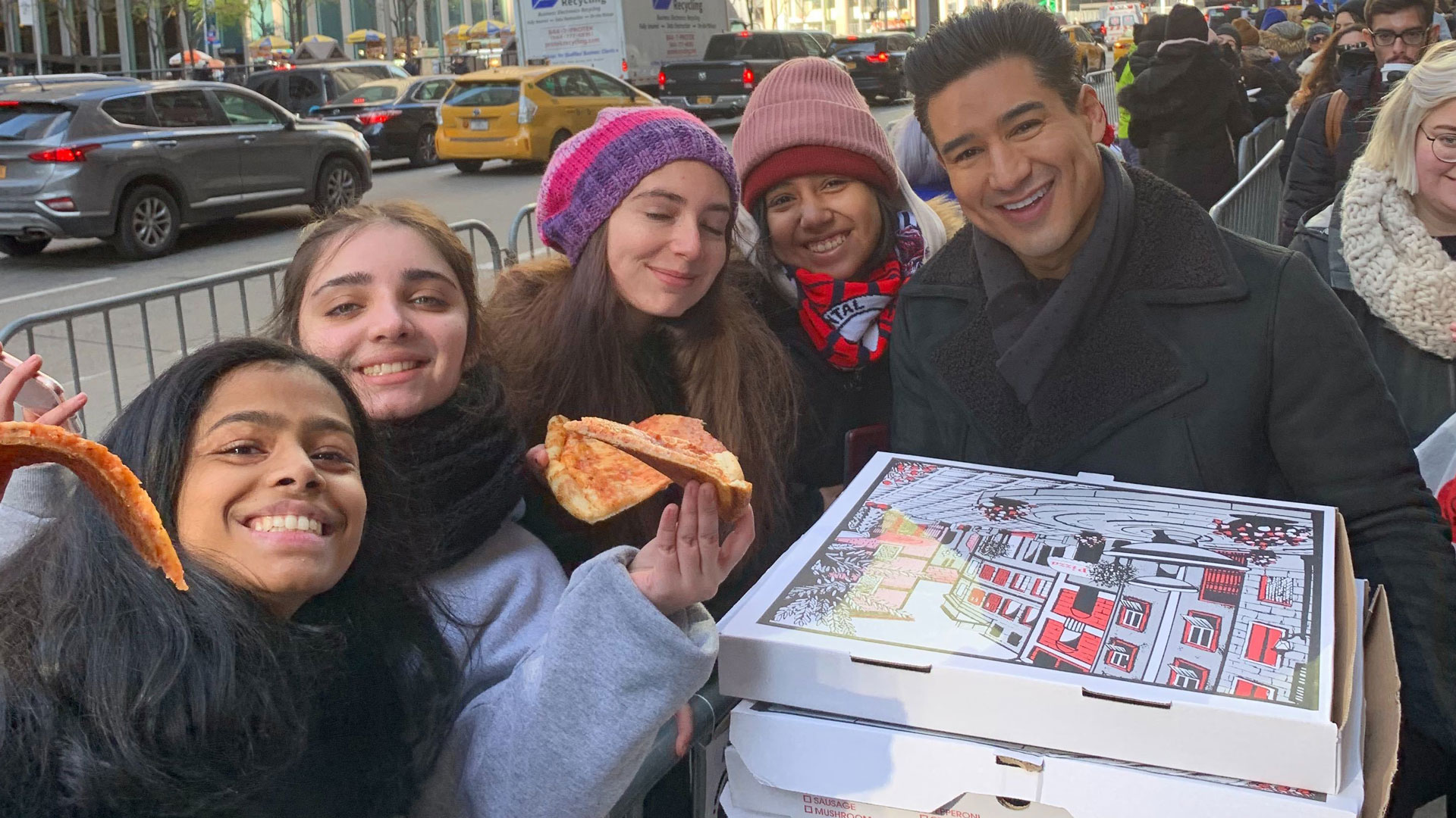 Mario Lopez Surprises Harry Styles Fans Camping Out For 'SNL' Tickets With Pizza! (EXCLUSIVE) - Access
