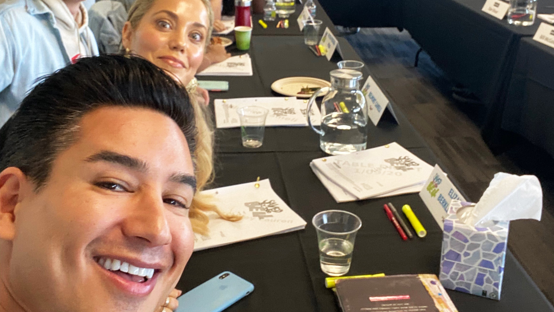 Mario Lopez And Elizabeth Berkley On Set Filming Saved By The