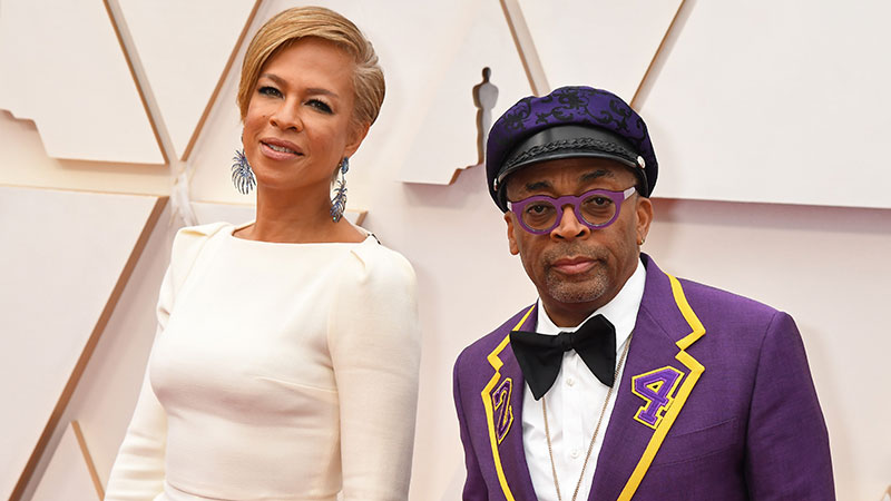 Spike Lee Honors Kobe Bryant At Oscars In Purple, Yellow Suit With '24' On Lapels