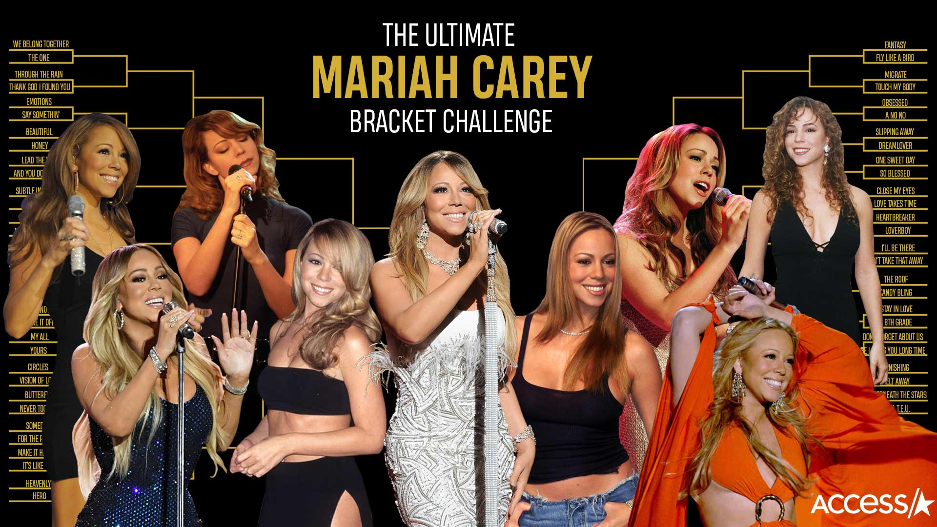 Celebrate Mariah Carey's Anniversary With The Mimi Madness Bracket Challenge | Access