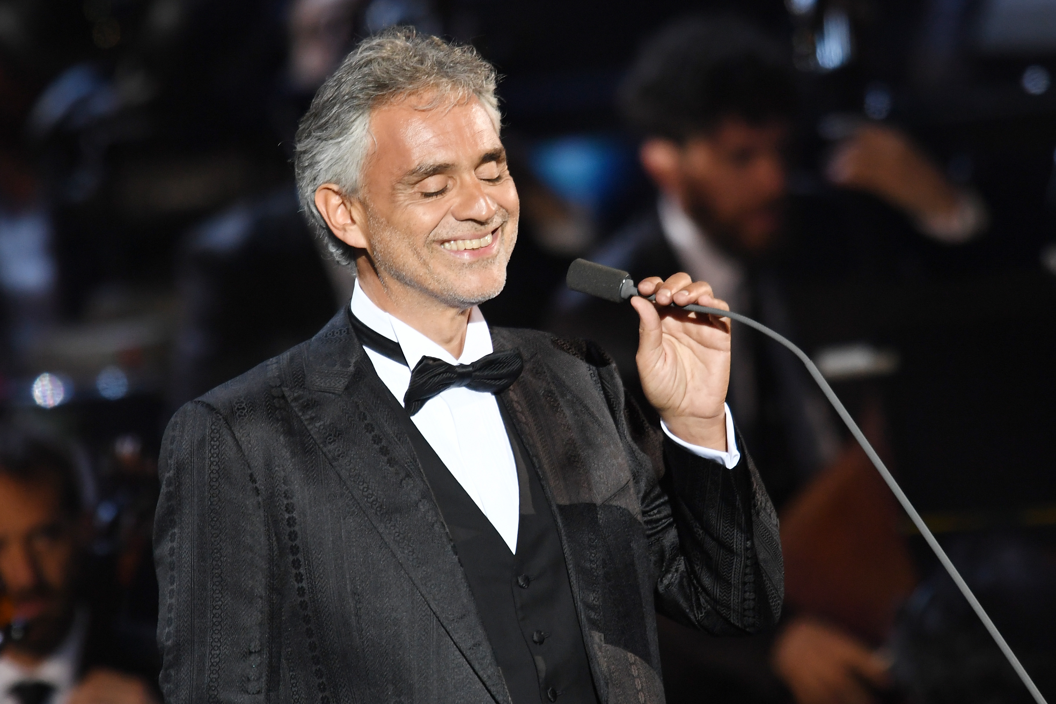 Opera star Andrea Bocelli gives blood for virus research