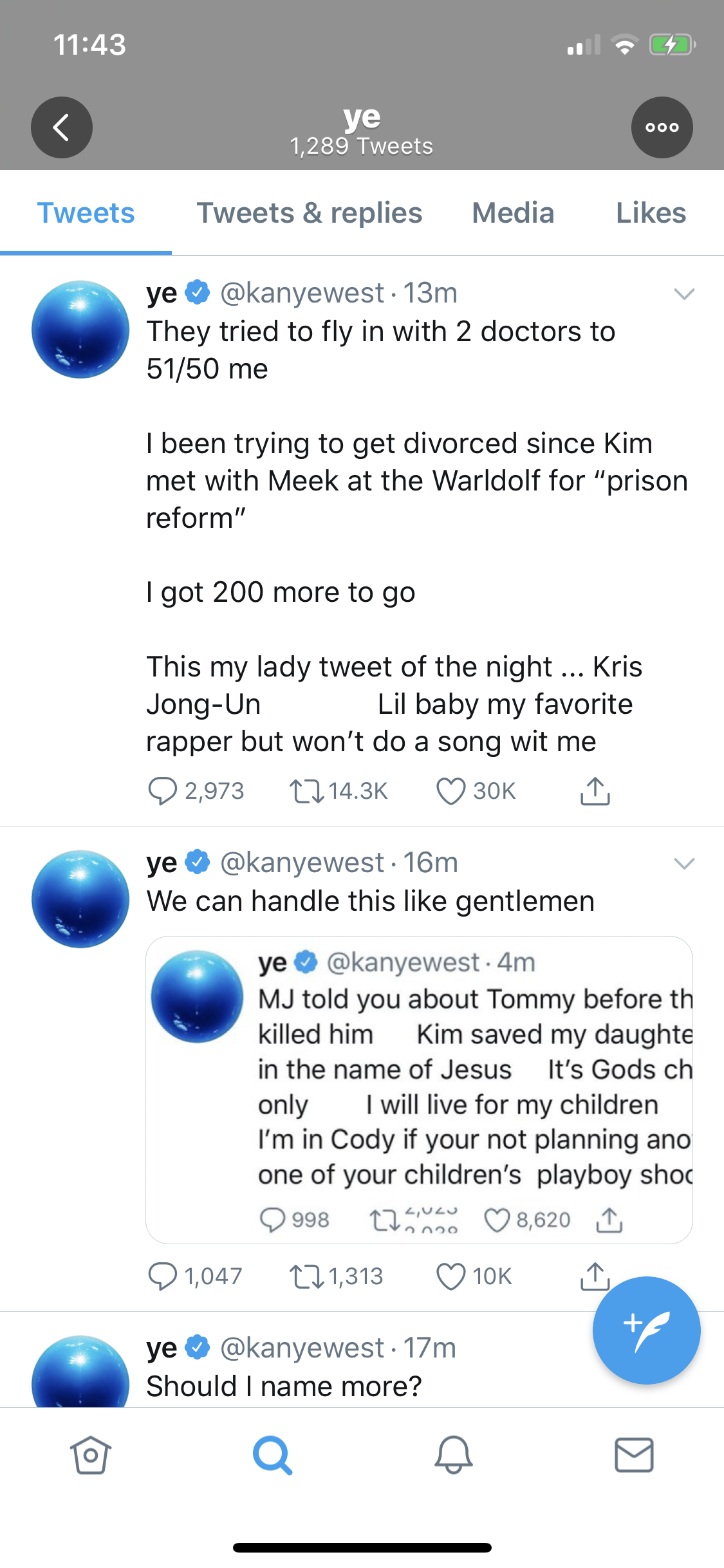 Kanye West Tweets About Divorcing Kim Kardashian As Mental Health Concerns Grow | Access