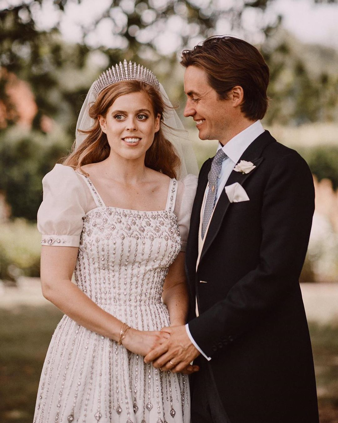 Princess Beatrice's wedding gown goes on show at Windsor Castle