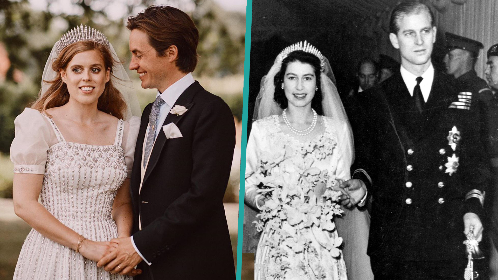 princess beatrice wedding dress and tiara