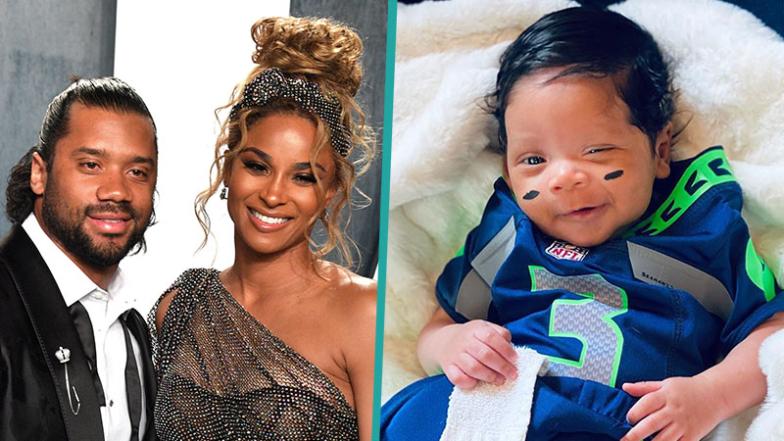 Ciara's Newborn Baby Win Rocks Seahawks Jersey For Russell ...