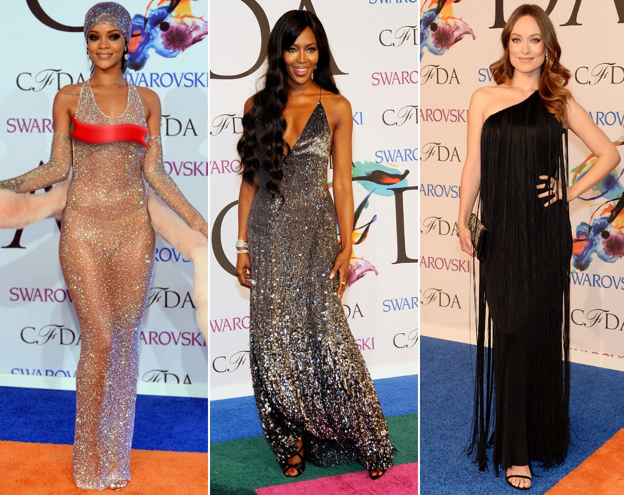 Glam Slam Risque Rihanna Rules The Cfda Red Carpet Access Online