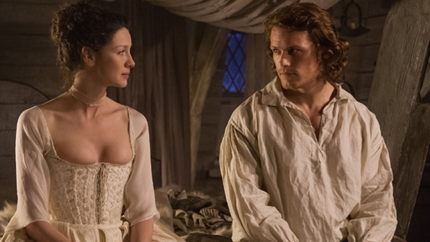 Outlander' Q&A: Sam Heughan On Filming Those Sexy 'Wedding