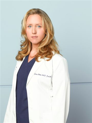 "Brooke Smith as Dr. Erica Hahn on ""Grey's Anatomy"""