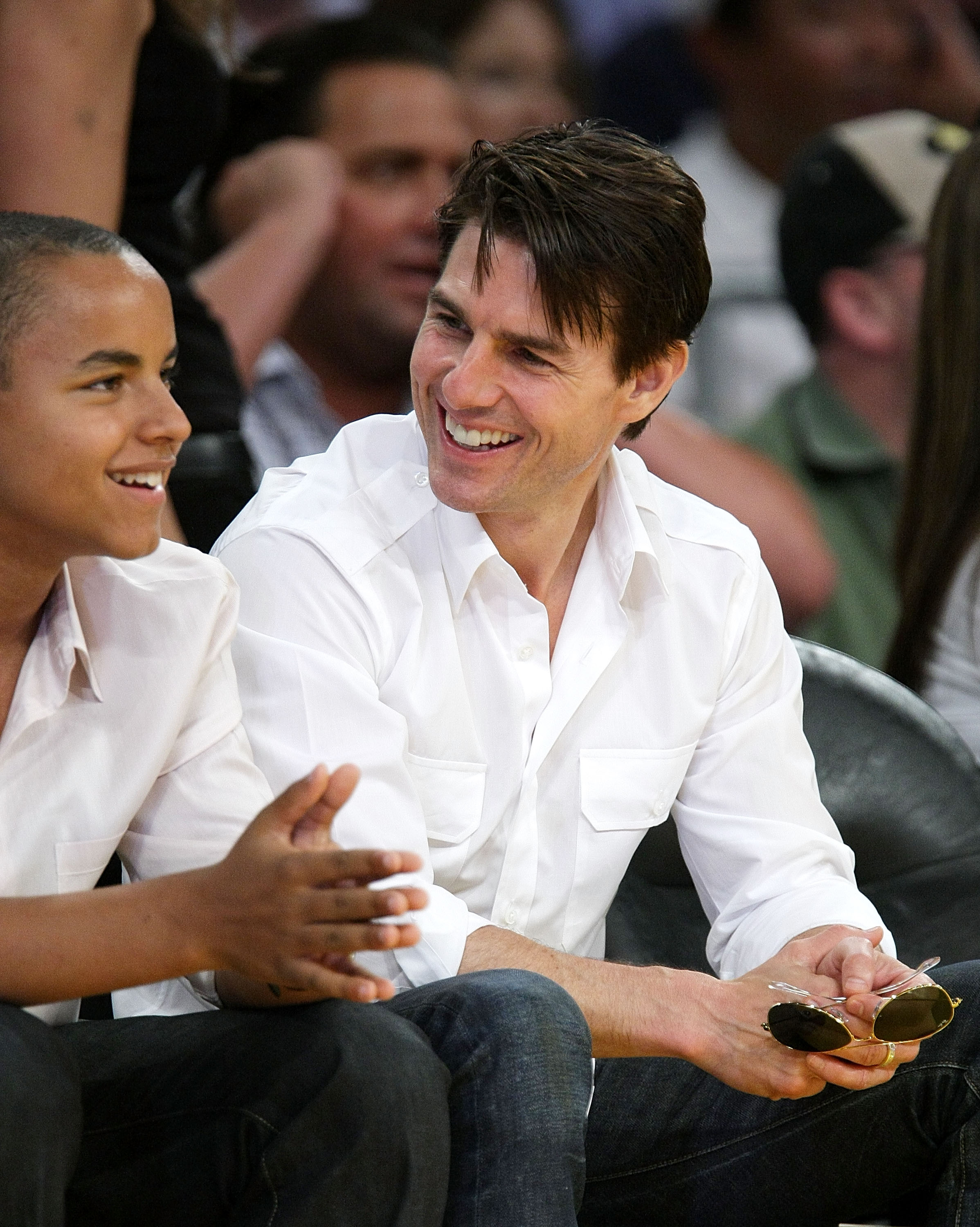Tom Cruise Makes Rare Public Appearance with Son Connor