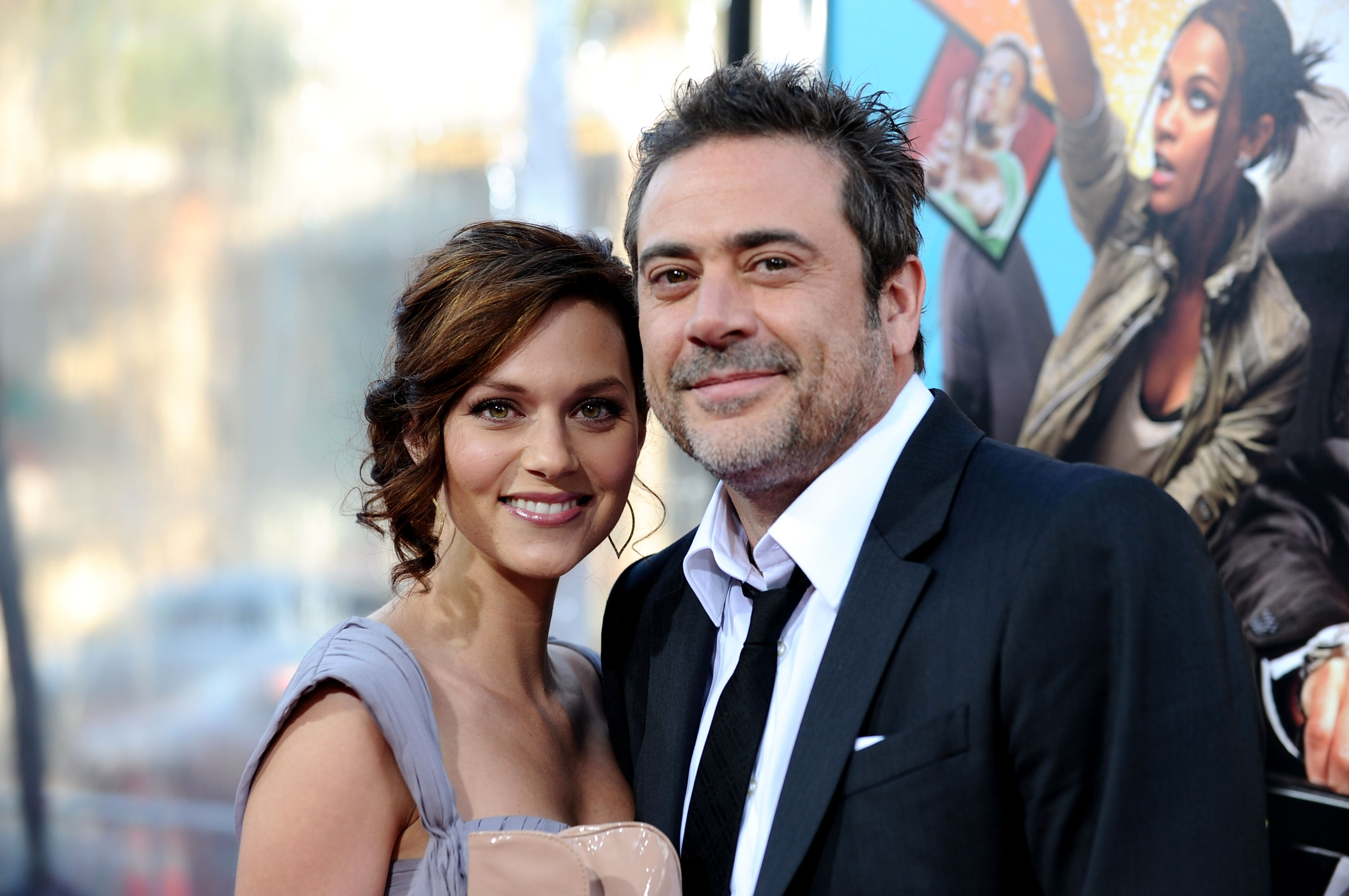 Hilarie Burton and Jeffrey Dean Morgan arrive at Warner Bros. 'The Losers' premiere