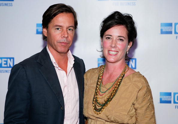 Andy Spade, CEO and Creative Director of Kate Spade, and designer Kate Spade attend OPEN from American Express' 'Making a Name for Yourself' at Nokia Theater July 27, 2006 in New York City. (Photo by Matthew Peyton/Getty Images For American Express)