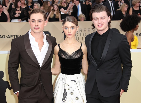 Stranger Things Sweethearts Natalia Dyer Charlie Heaton Have Glam