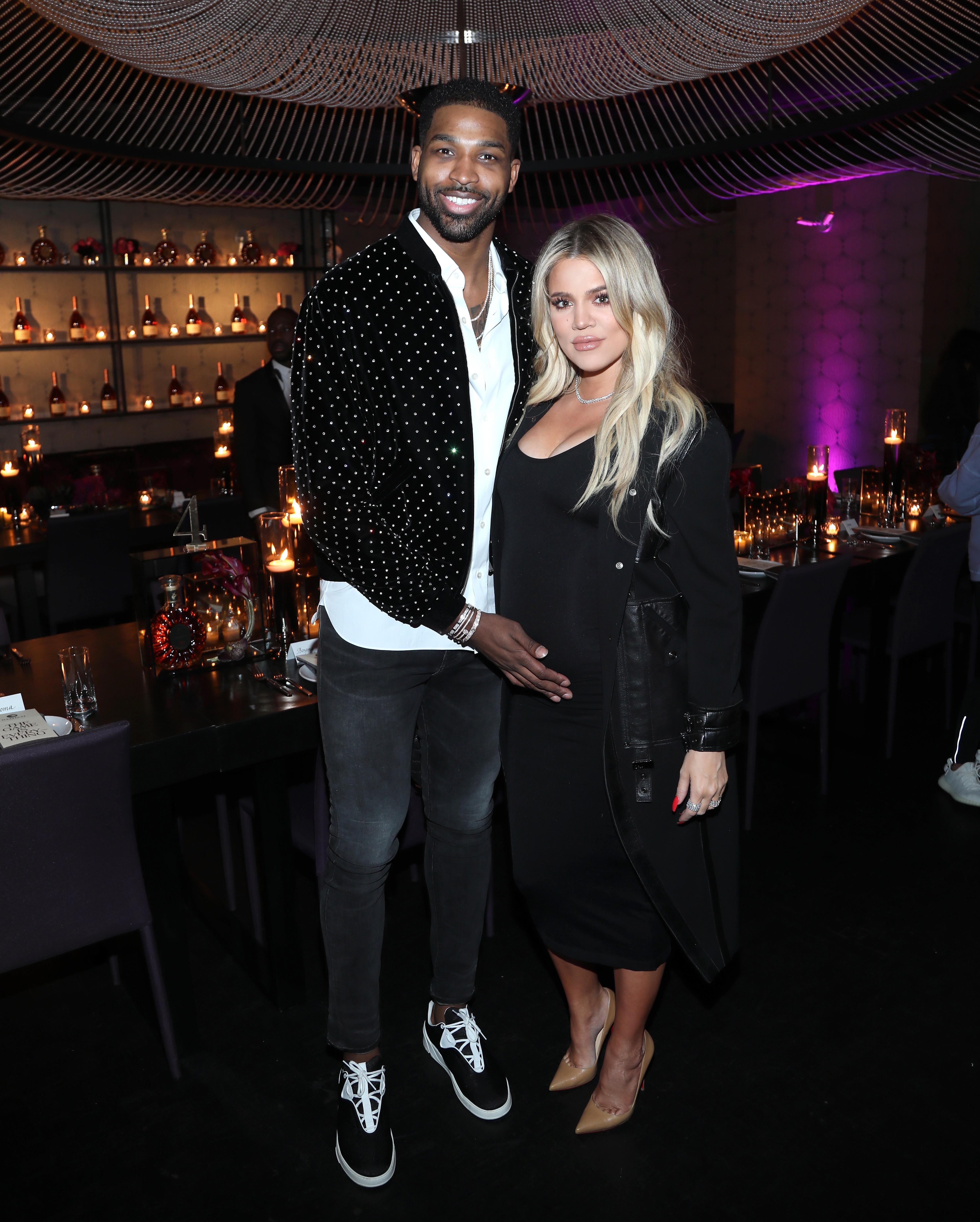 Khloé-Kardashian-Tristan-Thompson-Look-Loved-Up-At-NBA-All-Stars-Dinner