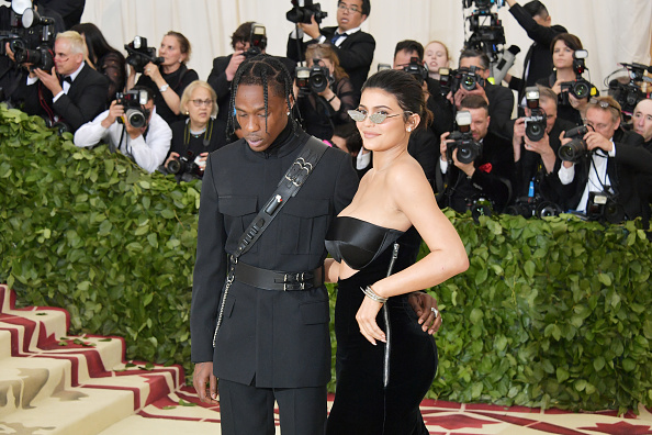 Travis Scott and Kylie Jenner attend the Heavenly Bodies: Fashion & The Catholic Imagination Costume Institute Gala at The Metropolitan Museum of Art on May 7, 2018 in New York City. (Getty Images)