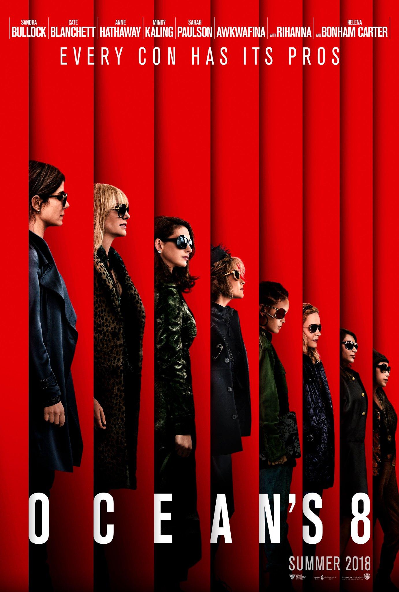 Rihanna, Sandra Bullock & Anne Hathaway Stun In New 'Oceans 8' Poster